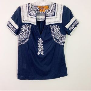 TORY BURCH | Embroidered Boho Chic Blouse Sz. 4